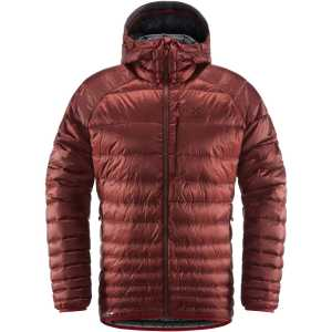 Haglofs Men's Essens Down Hooded Jacket - Maroon Red/Magnetite