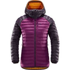 Haglofs Womens Essens Mimic Hooded Insulated Jacket - Acai Berry/Haze