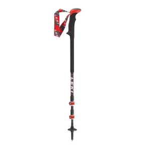 Leki Carbon Ti Trekking Poles One Pair - Black/Red