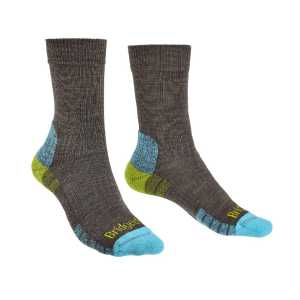 Bridgedale Womens Hike Lightweight Merino Performance Socks - Brown/Lime