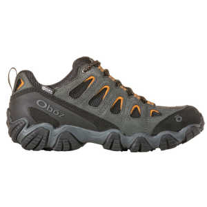 Oboz Sawtooth II Low BDRY Waterproof Walking Shoes - Shadow/Burlap