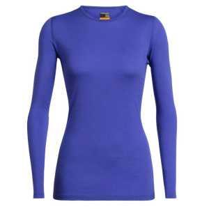 Icebreaker Womens Merino 200 Oasis Long Sleeve Crewe - Mystic