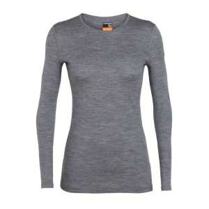 Icebreaker Womens Merino 200 Oasis Long Sleeve Crewe - Gritstone Heather