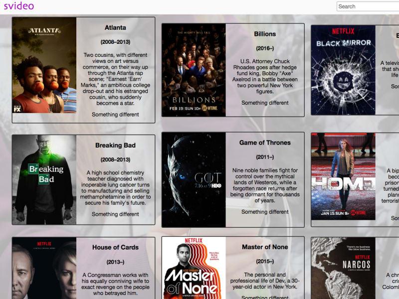Netflix-like Page