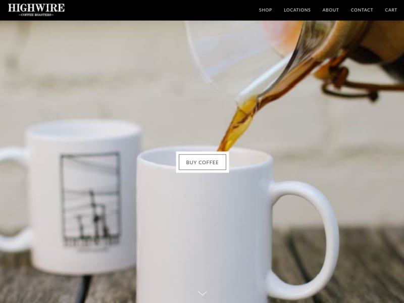 Highwire Coffee Roasters Website Redesign