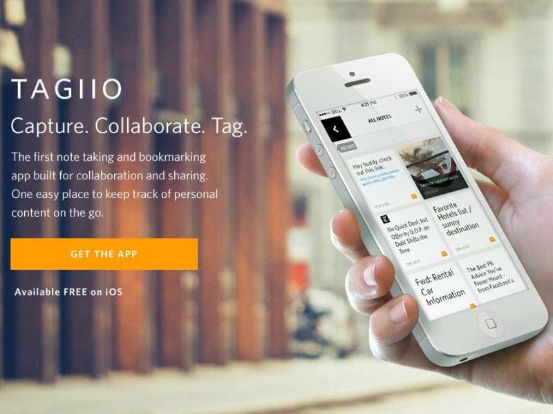 Tagiio iOS App