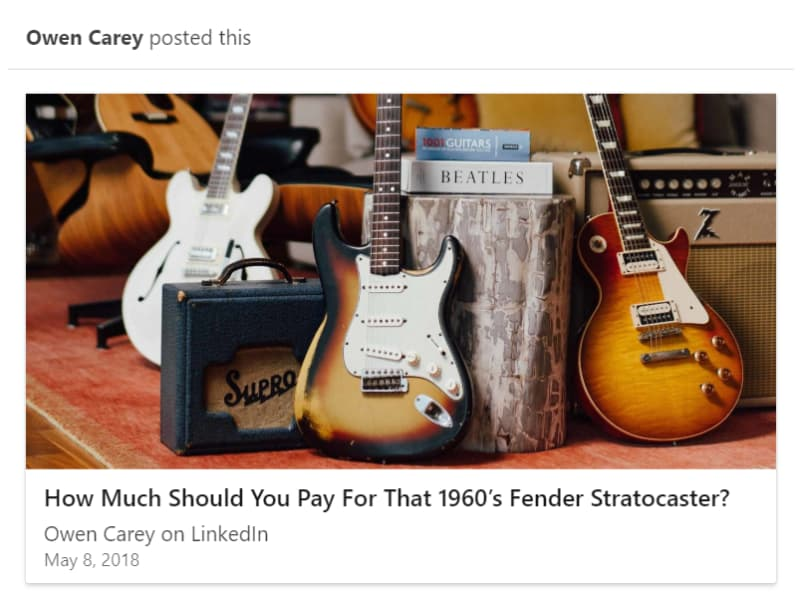 How Much Should You Pay For That 1960's Fender Stratocaster?