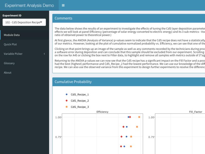 Experimental Analysis Demo