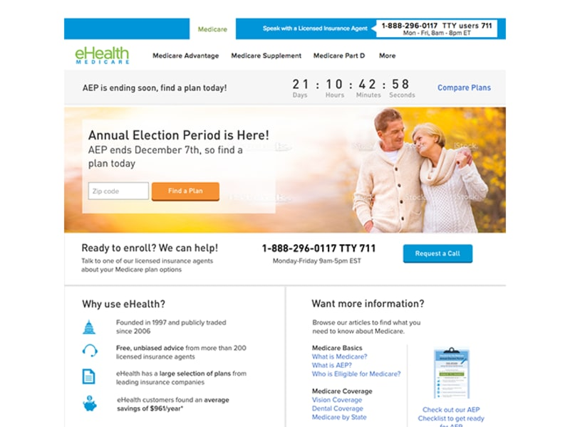 End of AEP Landing Page