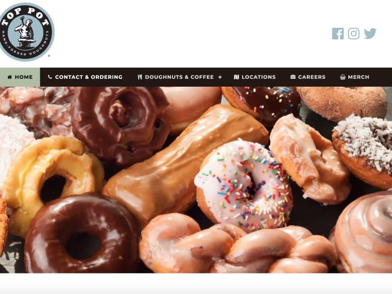 Top Pot Doughnuts Website