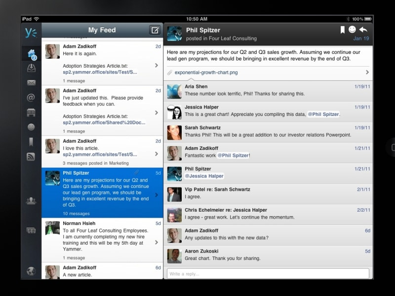 Yammer for iPad