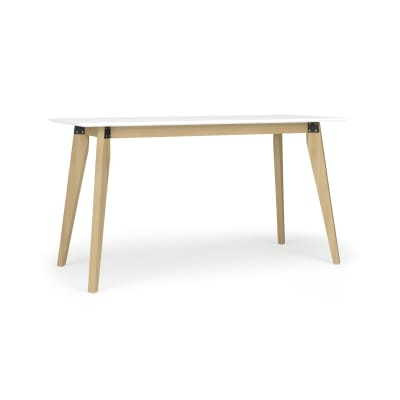 Modern Office Desk with Wood Post Legs - 55