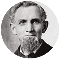 An image of James Murray Spangler, who invents the first ever Vacuum