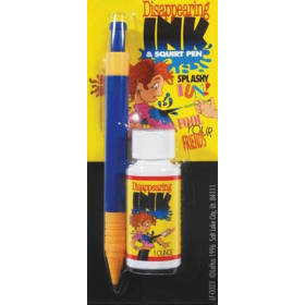 Disappearing Ink with Squirt Pen