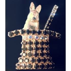 Rabbit in Hat Pin