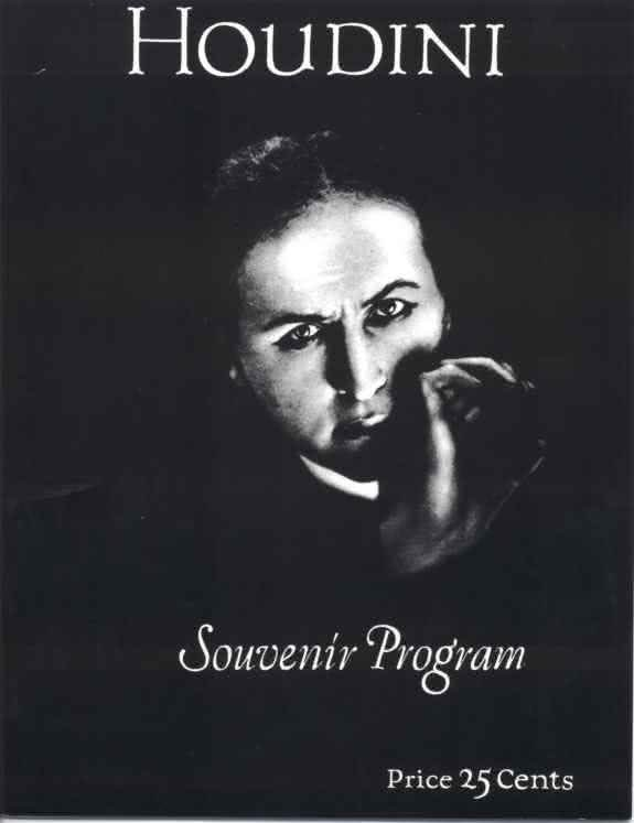 Houdini Souvenir Program Houdini Magic