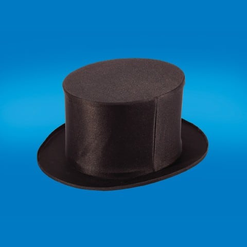 Collapsible Top Hat- Black Adult