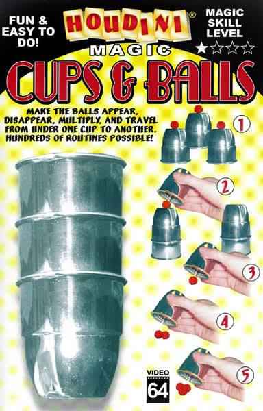 Book-Cups and Balls
