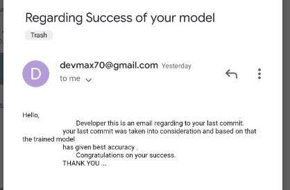 success notifier