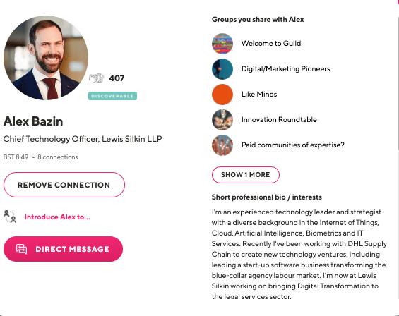 Alex Bazin CTO Lewis Silkin LLP Guild profile