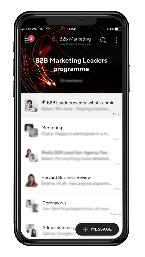 B2B Marketing extend the impact of their virtual events by connecting them in private Guild groups