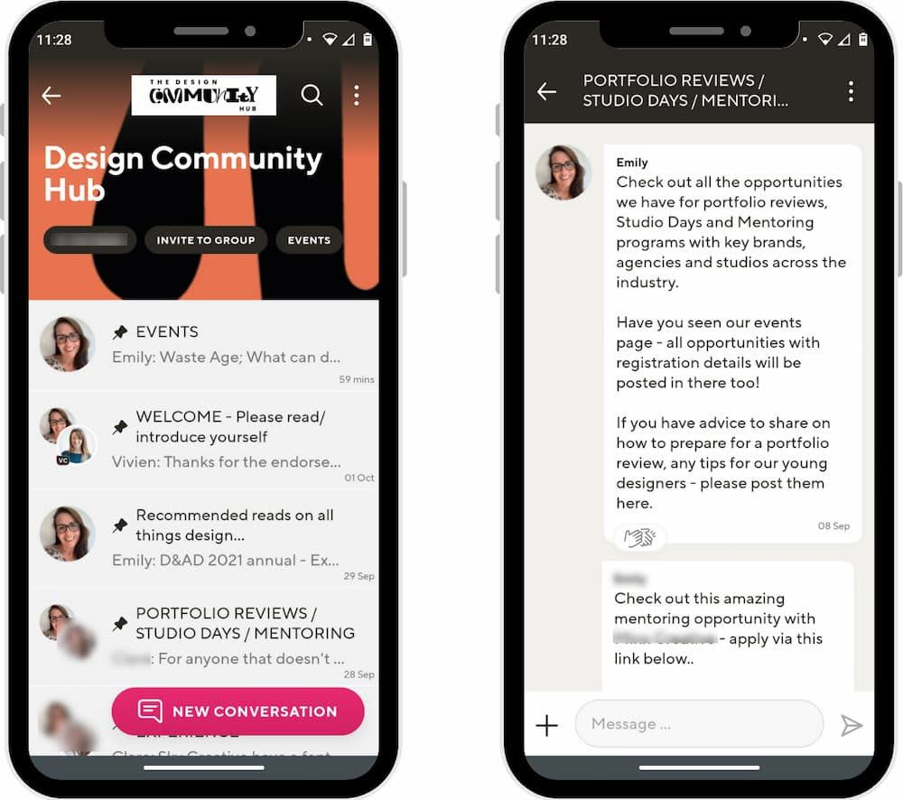 The Design Community Hub on Guild connects design professionals and new entrants who need help