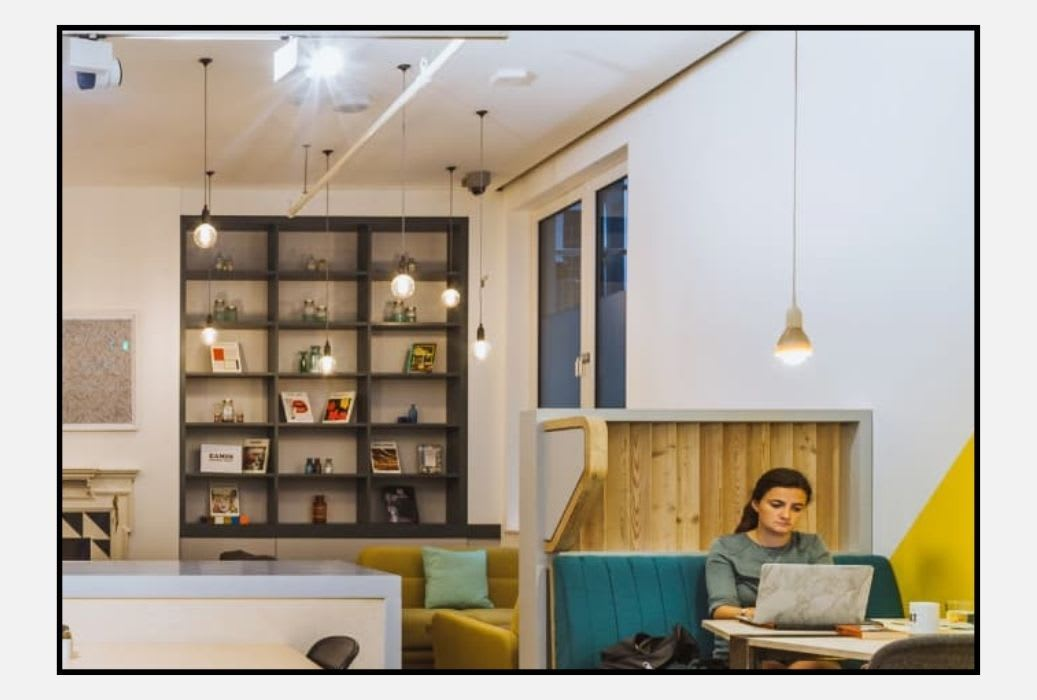 Huckletree Shoreditch include a library among its collaborative spaces (image from Huckletree)