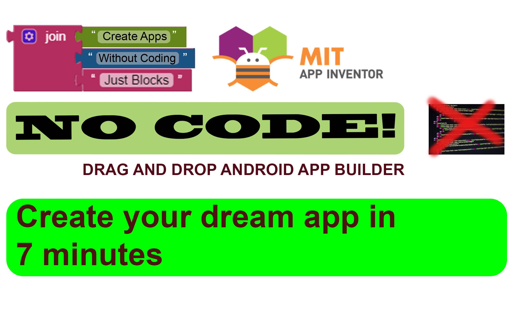 No programming skill - Your dream Android app in PlayStore -Appinventor