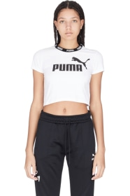 fe3ba36e8610 Puma - Amplified Cropped T-Shirt - Puma White