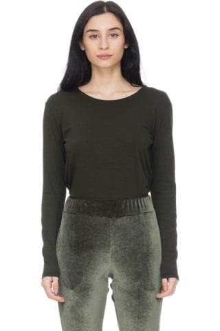 dd7217ca1aa3c Bachour - Long Sleeve T-Shirt Bodysuit - Olive