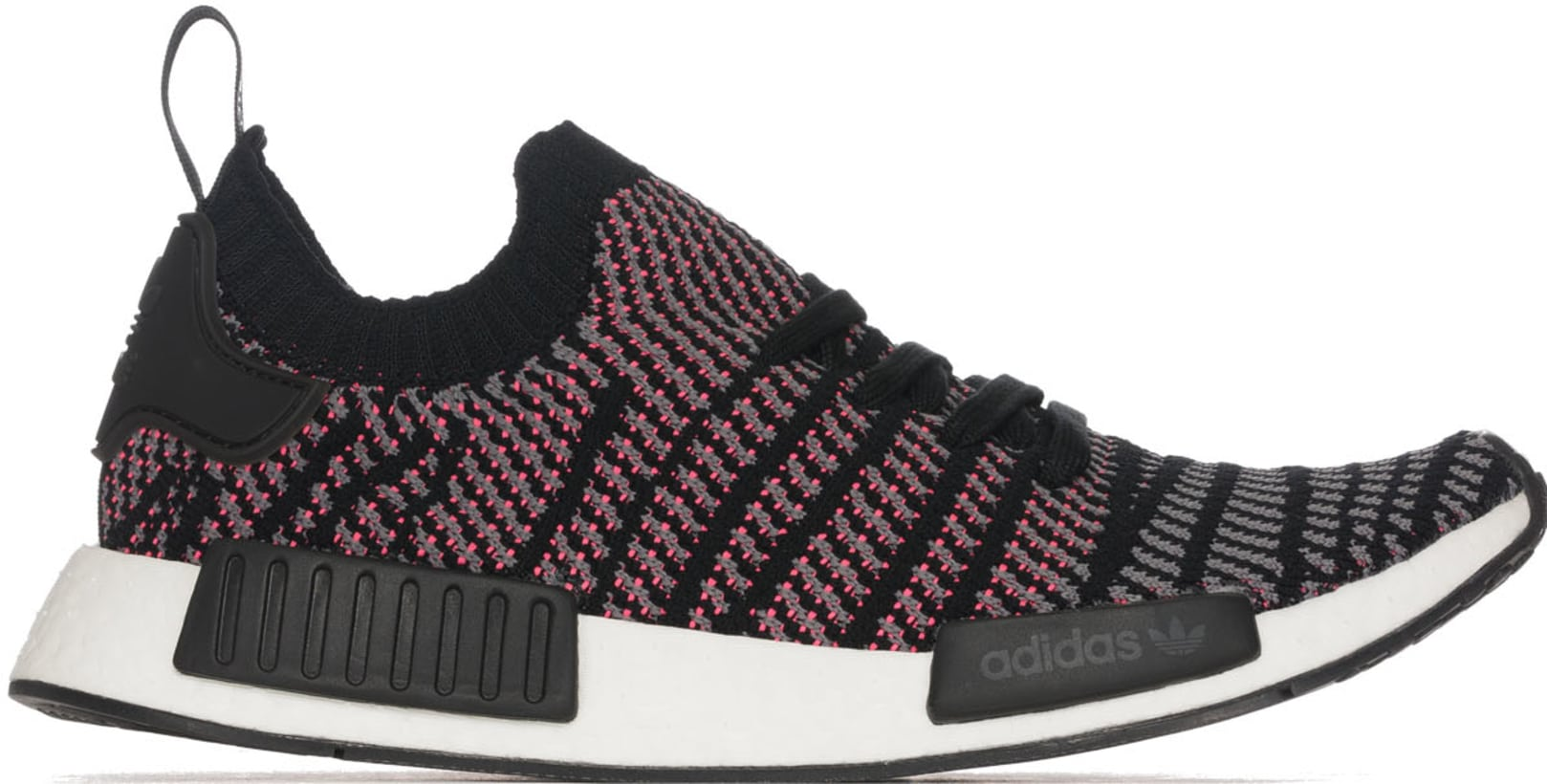 e3a9d49bb9d18 adidas Originals  NMD R1 STLT Primeknit - Core Black Grey Solar Pink ...