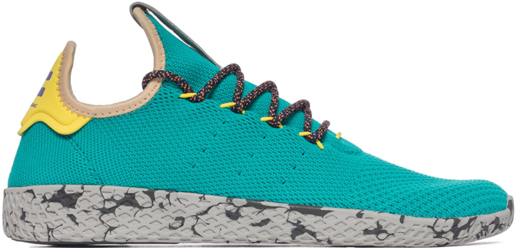 adidas Originals  Pharrell Williams Tennis HU - Teal Frozen Yellow ... a563d455be01