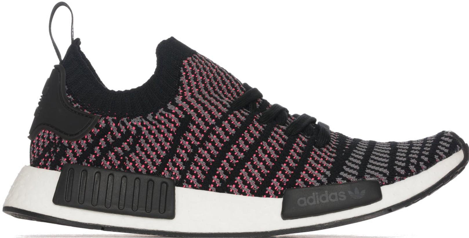adidas Originals  NMD R1 STLT Primeknit - Core Black Grey Solar Pink ... f0d70dcb9