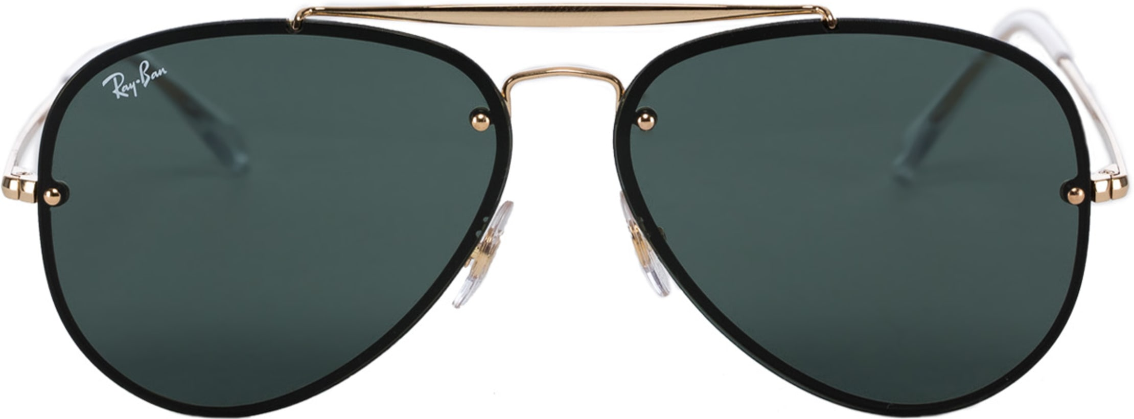 e61cee6913cd5 Ray-Ban  Blaze Aviator Sunglasses - Gold Green Classic