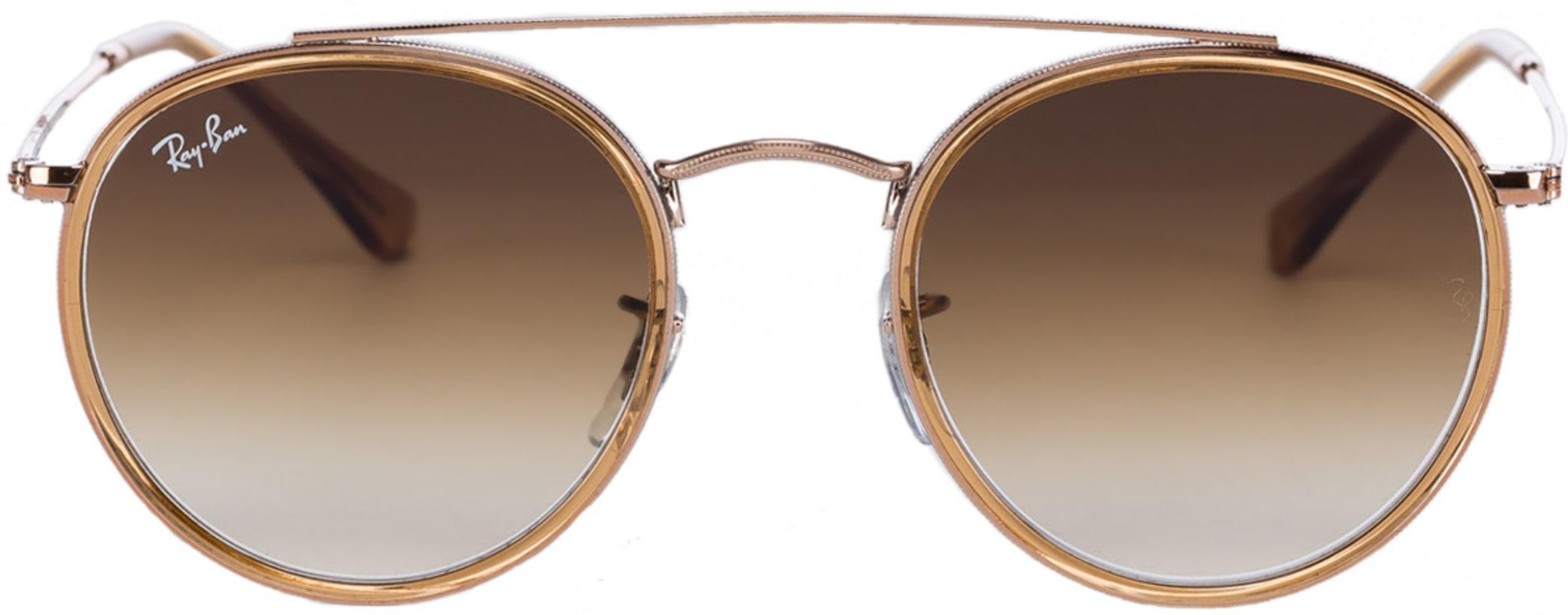 d5aaa07ec0 Ray-Ban. Round Double Bridge Sunglasses - Light Brown Bronze Copper Light  Brown Gradient