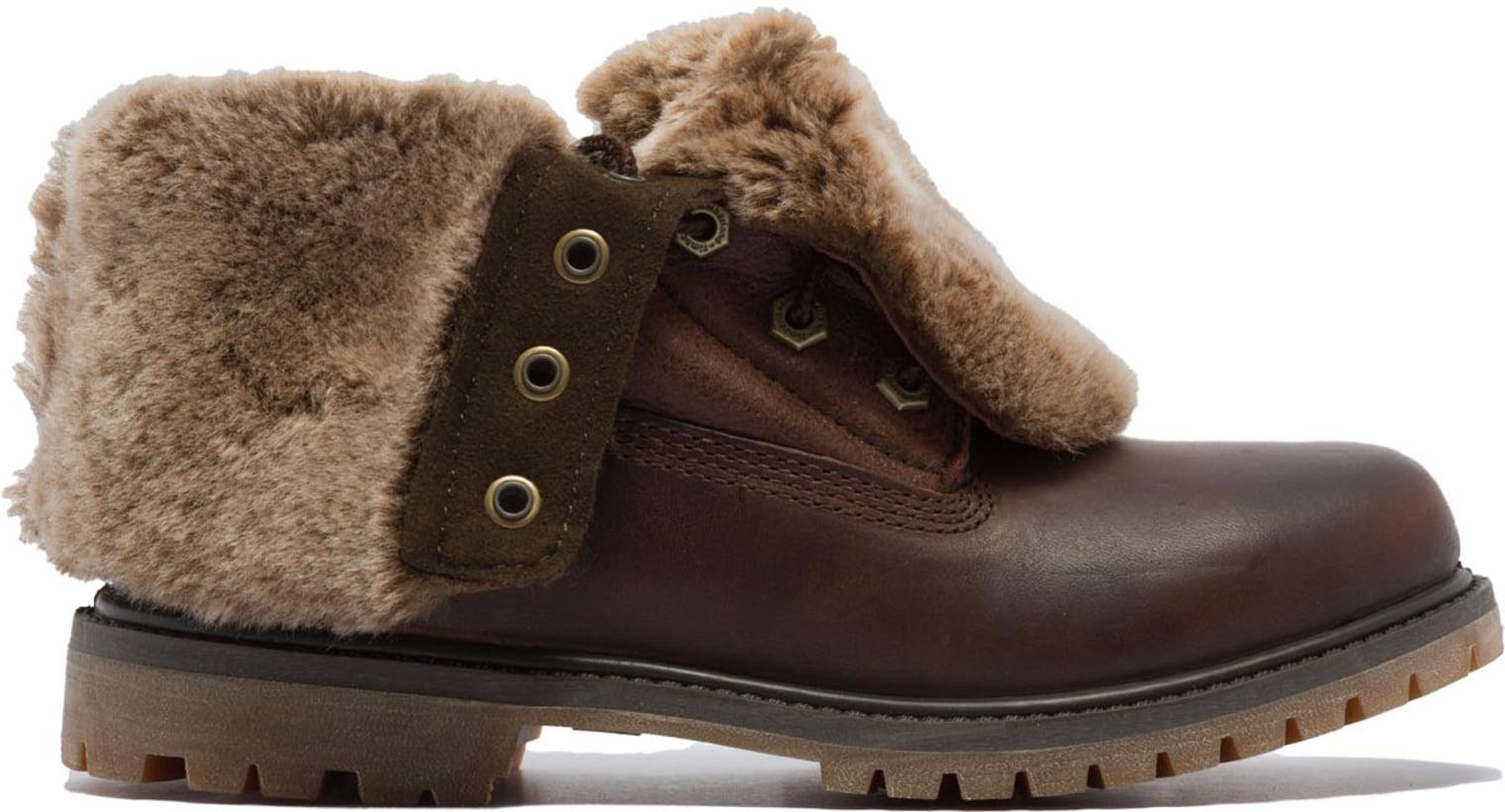 45d12bddb2d23 Timberland: Authentics Shearling Fold down Boots - Dark Brown ...