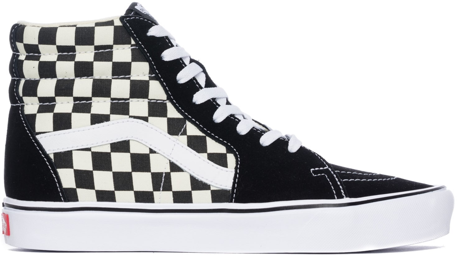 33ded61a8b0369 Vans  Checkerboard SK8-Hi Lite - Black True White