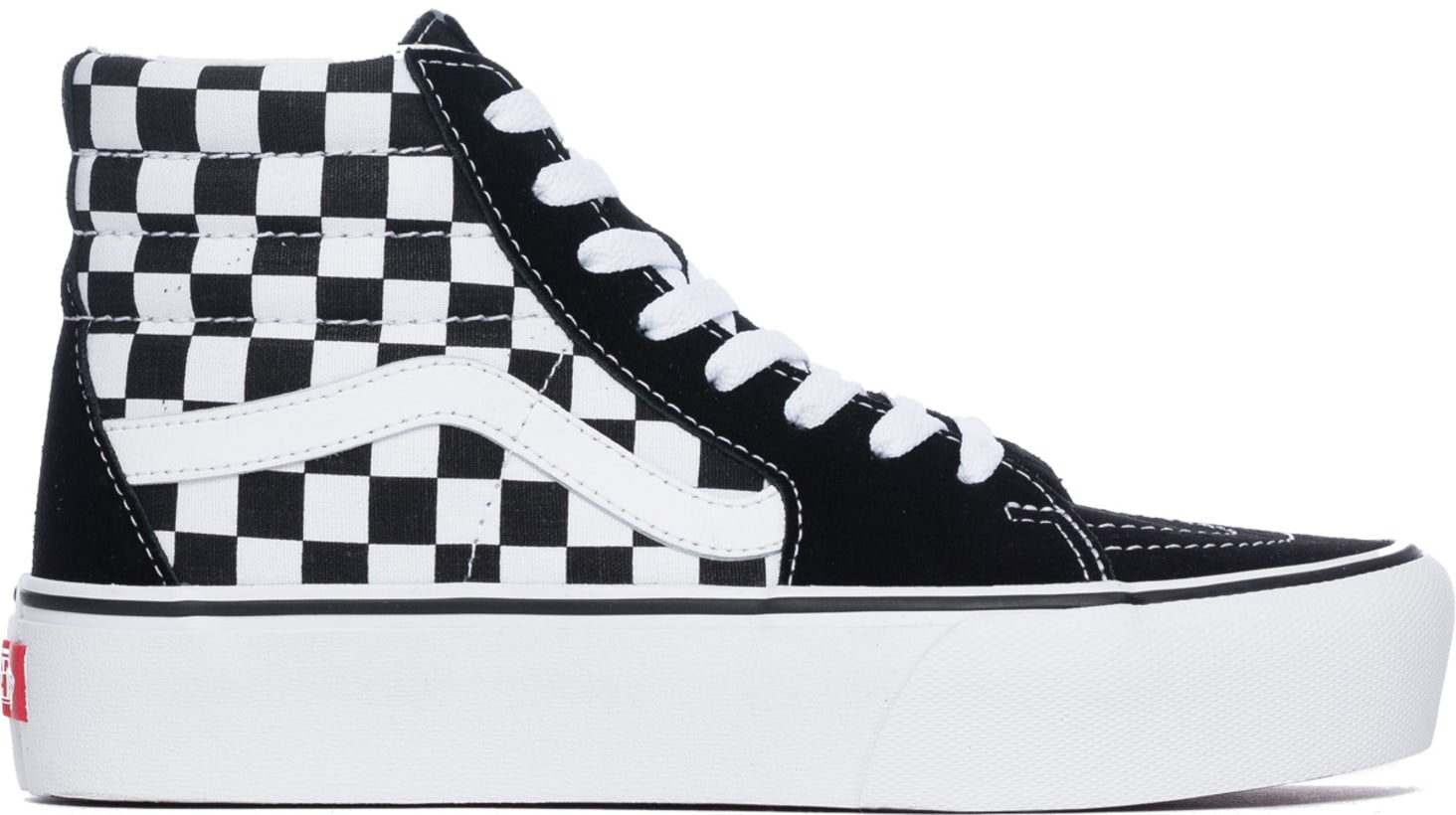 738fe241f5 Vans  SK8-Hi Platform 2.0 - Checkerboard True White