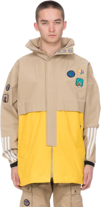 e0ba7e1e91c73 adidas Originals. Pharrell Williams Human Race 3 Layer Jacket - Hemp EQT  Yellow