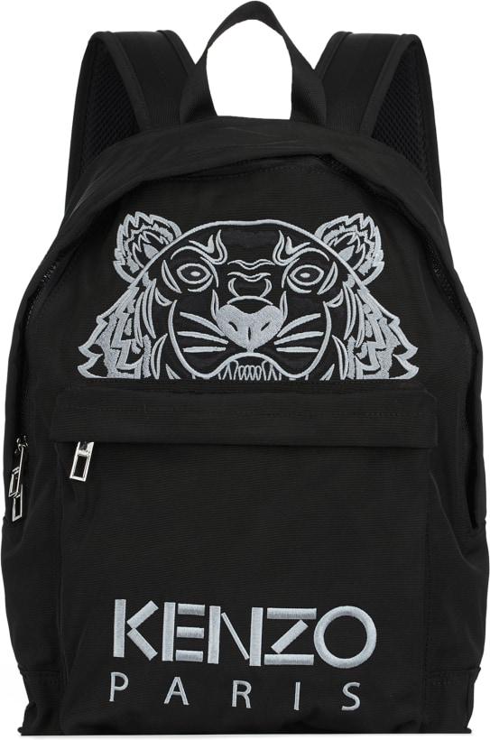 93ea1370 Kenzo: Large Tiger Canvas Backpack - Black | influenceu