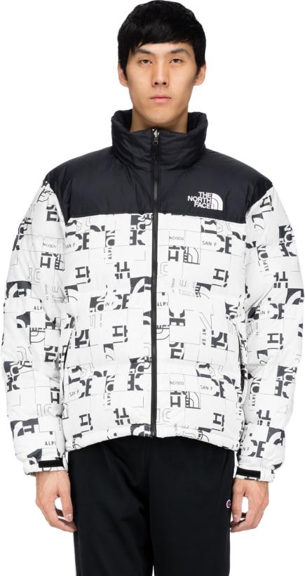 d325bdd27 The North Face - 1996 Retro Nuptse Jacket - White Broken Grid