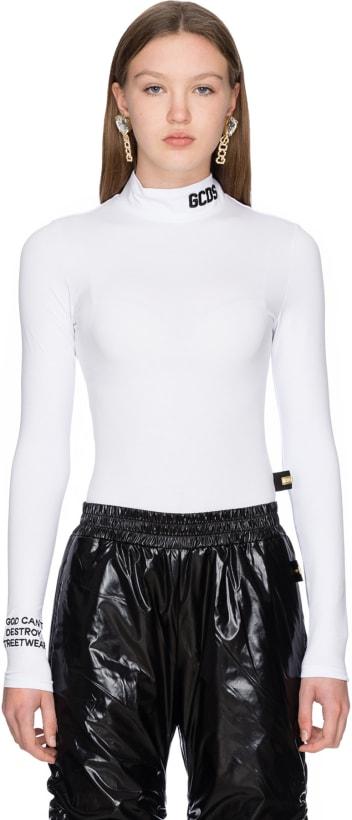 0ea02703af7d1 GCDS  Logo Collar Bodysuit - White