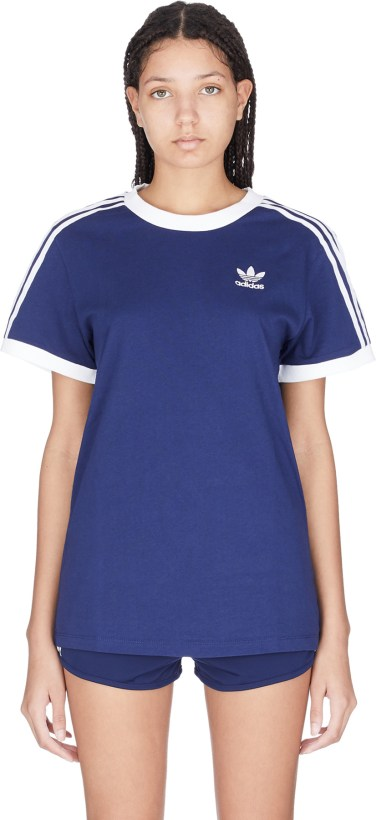 11d5e732 adidas Originals: 3-Stripes T-Shirt - Dark Blue | influenceu