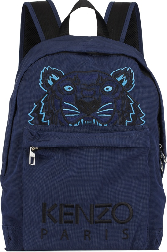 d6fcc61f29 Kenzo: Large Tiger Canvas Backpack - Navy Blue | influenceu