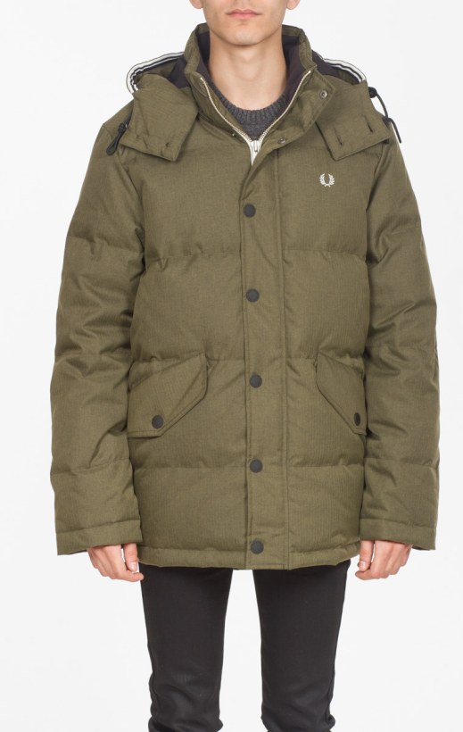 fba96738513c7 Fred Perry: Hooded down Field Parka - Forest Night   influenceu