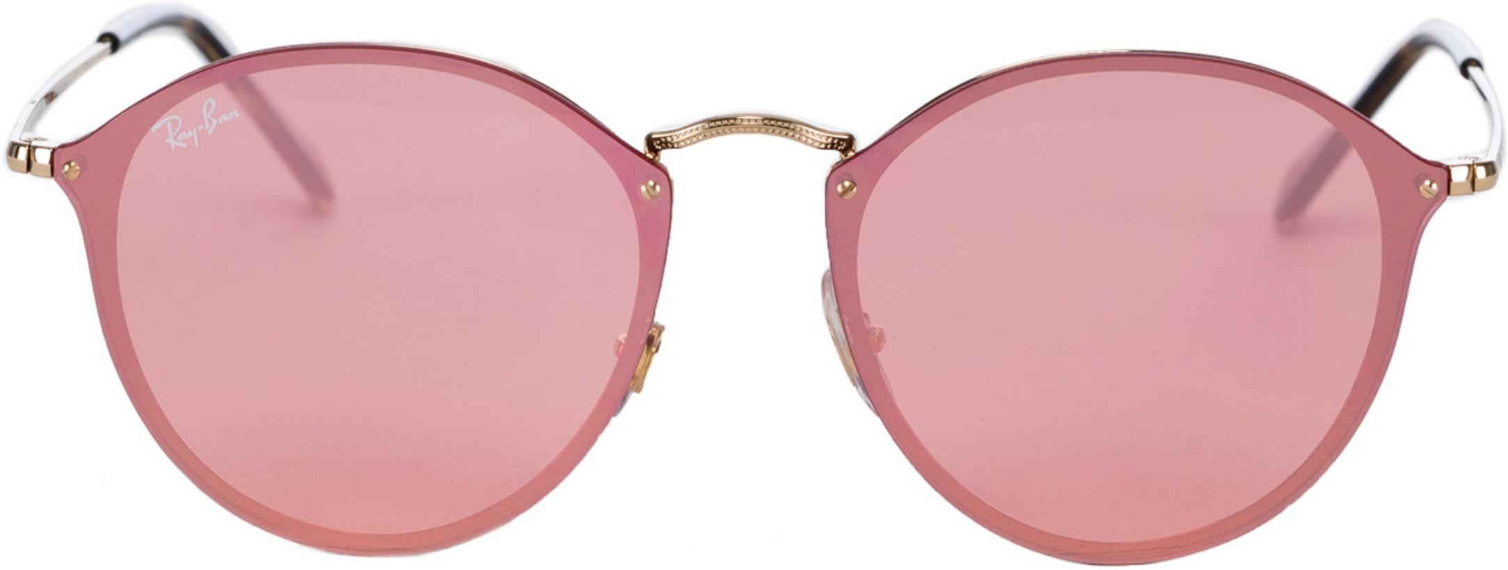 1b80c8acb709 Ray-Ban: Blaze Round Sunglasses - Gold/Pink Mirror | influenceu