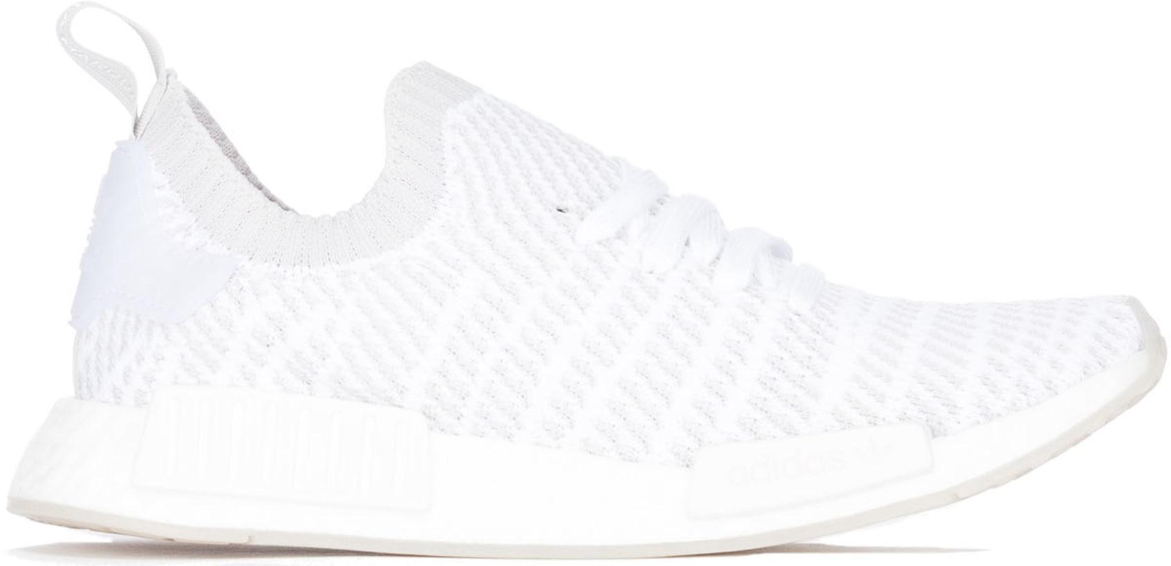 59dd32311 adidas Originals  NMD R1 STLT Primeknit - Cloud White Grey Solar ...