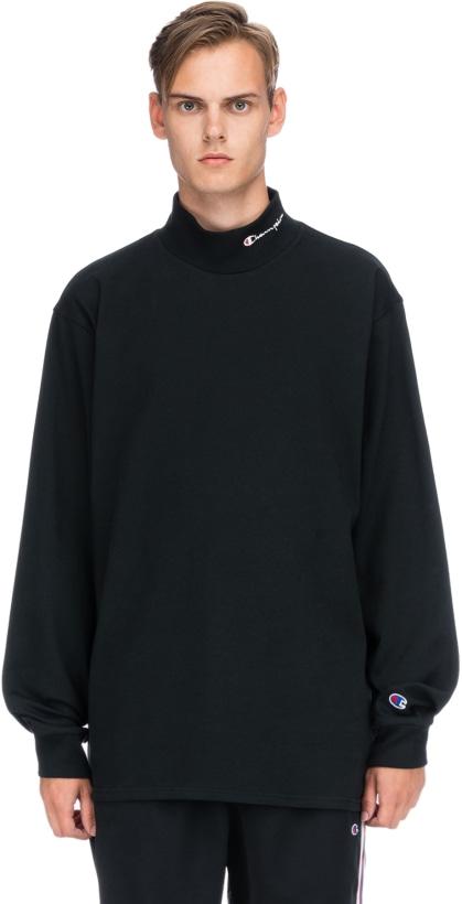 c281a0e6b5d Champion  Reverse Weave Heavyweight Mock Neck T-Shirt - Black ...
