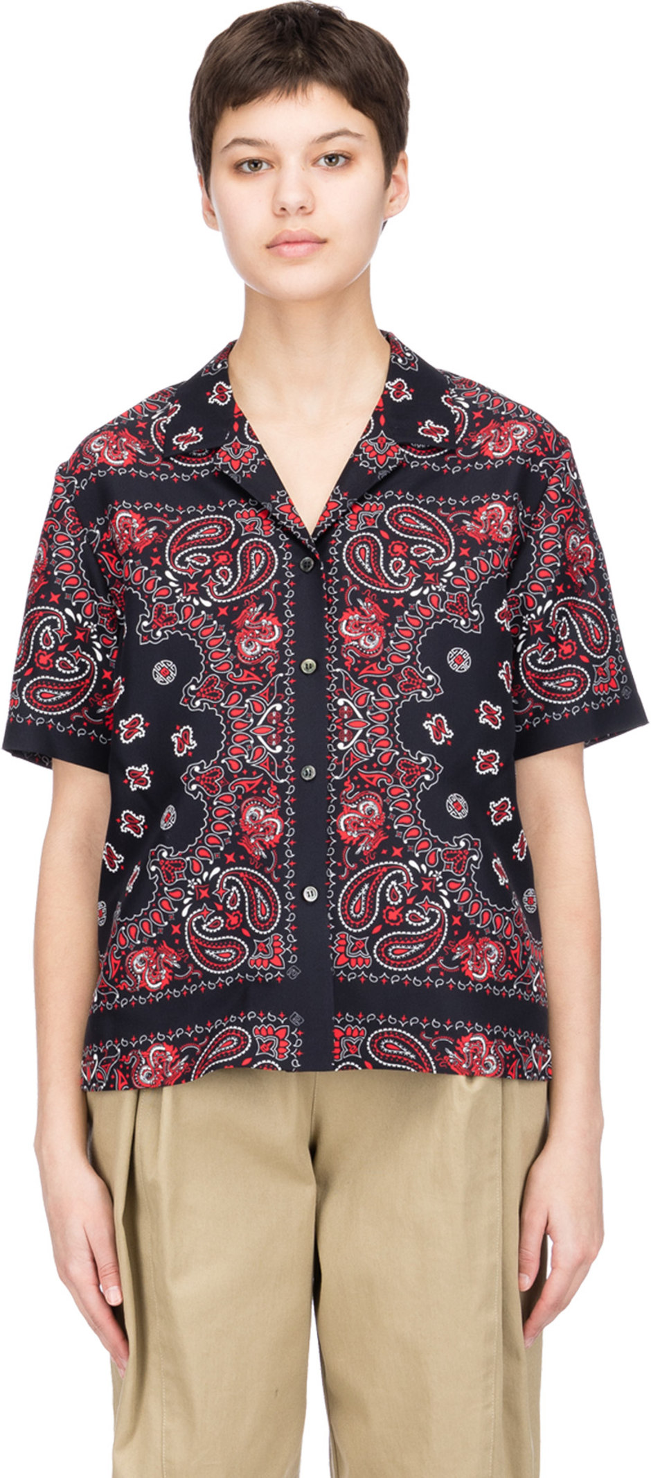 32047e1e56a6a Alexander Wang  Bandana Print Hawaiian Shirt - Black Red