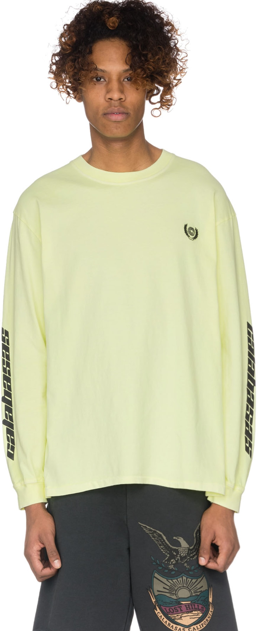 b823544ca342a YEEZY  Calabasas Crest Long Sleeve T-shirt - Frozen Yellow
